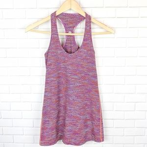 Lululemon Purple and Orange Striped Racerback Tank